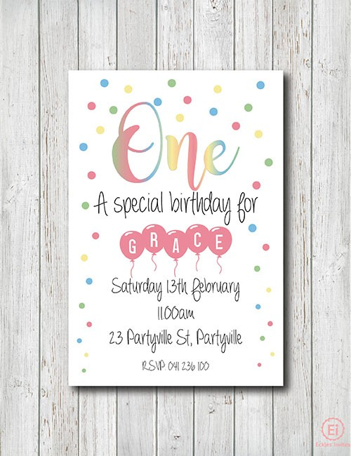 Confetti birthday invitations image collections invitation boho birthday invitation eckles invites pastel confetti birthday invitation filmwisefo filmwisefo