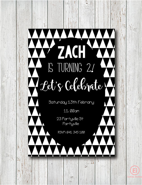monochrome party invitation